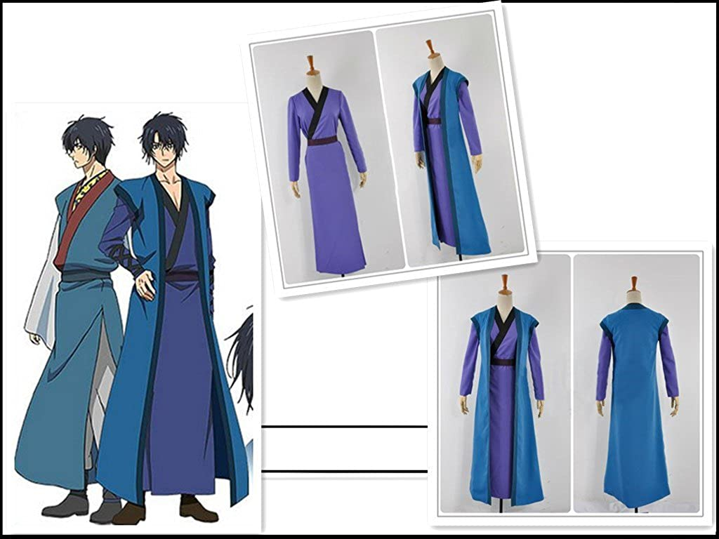 Amazon.com: Akatsuki no Yona Son HAK Blue Full Set Cosplay Costume: Clothing
