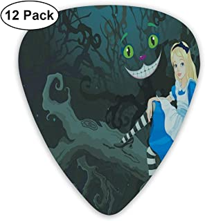 Guitar Picks - Abstract Art Colorful Designs,Alice Sitting On Branch With Chescire Cat In