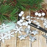 com-four® 8-teiliges Deko-Zubehör für Winter und Weihnachten - Schnee-Deko zum Basteln - Winter-Deko in silberfarben und weiß [Auswahl variiert] (08-teilig - Basteldeko Schnee) - 3