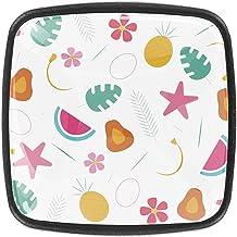 Keukenkast Knoppen - Mooie tropische zomer patroon-01 - Knoppen voor dressoir laden voor kast, kast, badkamer of kantoor -...