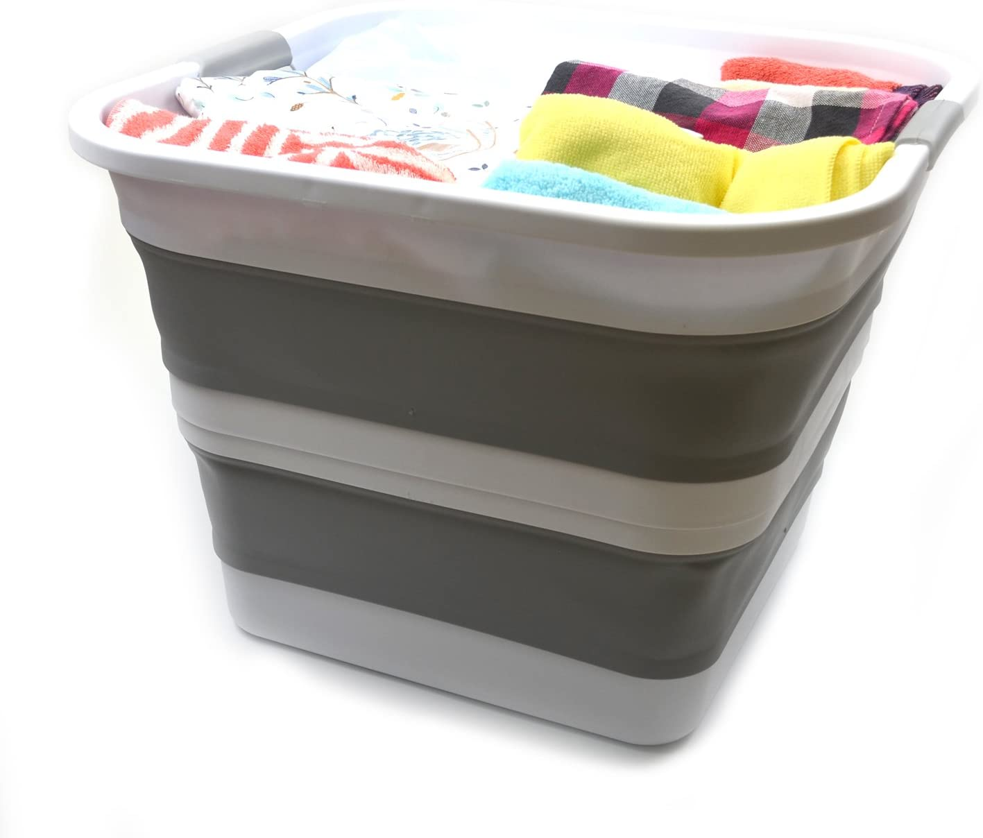 SAMMART Collapsible Plastic Max 69% OFF Ranking TOP5 Laundry Tub Square Basket -