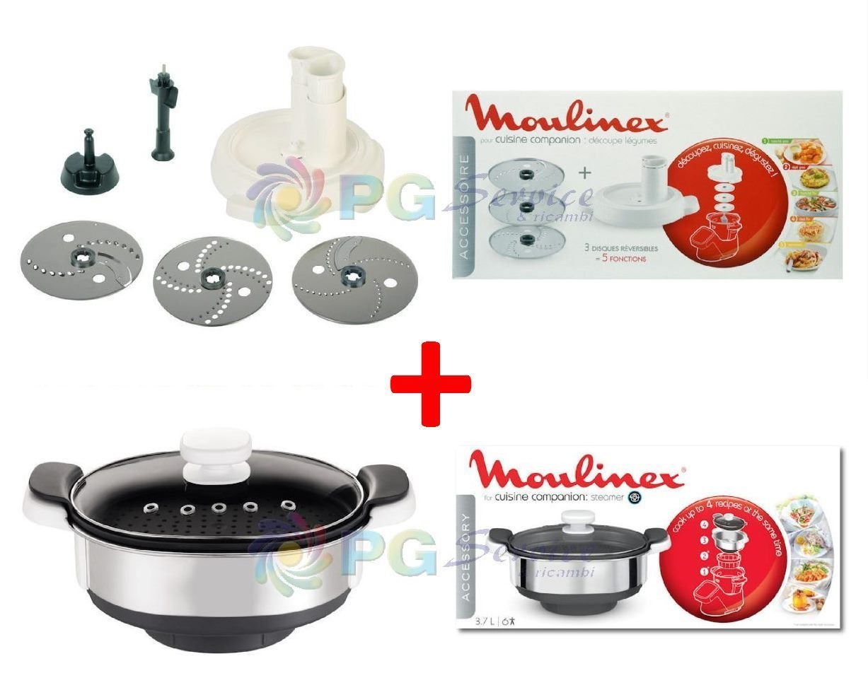 Moulinex Kit Accesorios Vaporera + Talla picador de verduras Cuco Cuisine Companion: Amazon.es: Hogar