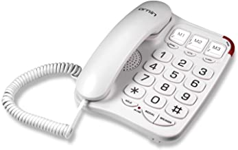 Ornin S016+ Big Button Corded Telephone with Speaker, Desk Phone Only (Off-White) photo
