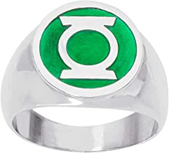 DC Comics Mens Stainless Steel Justice League Superhero Logo Ring Jewelry