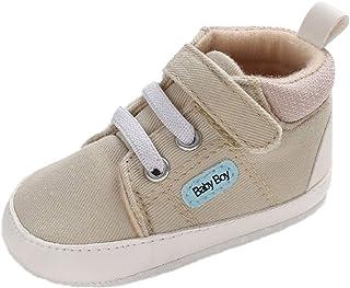 Zapatos de bebé niños para 0-18 Meses, Zapatillas Primeros Paso Recién Nacido con Suela Suave Antideslizante