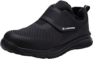 LARNMERN Safety Trainers for Men,S1/SBP SRC Lightweight Steel Toe Cap Shoes Breathable Reflective