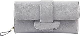 Wiwsi Tri-fold Clutch Purse Handbag Lady PU Leather Card Holder Organizer Wallet