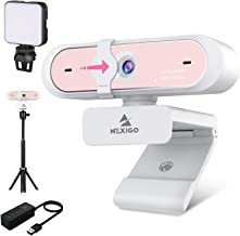 60FPS 1080P Webcam Kits, NexiGo FHD USB Web Camera with Privacy Cover, Extendable Tripod Stand, Video Conference Lighting,...