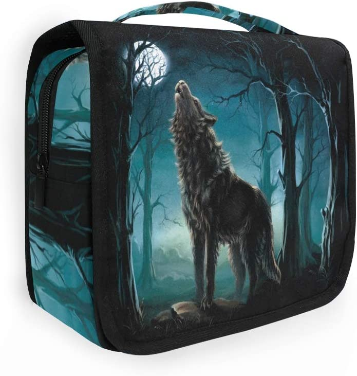 Branded goods YKMustwin Toiletry Bag Animal Wolf Forest Moon with sold out Travel H