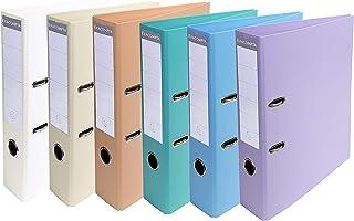Exacompta - Réf. 53084E - Carton de 10 Classeurs à levier A4 Prem'Touch - Dos de 70 mm - Mécanique 75 mm - Dimensions exté...