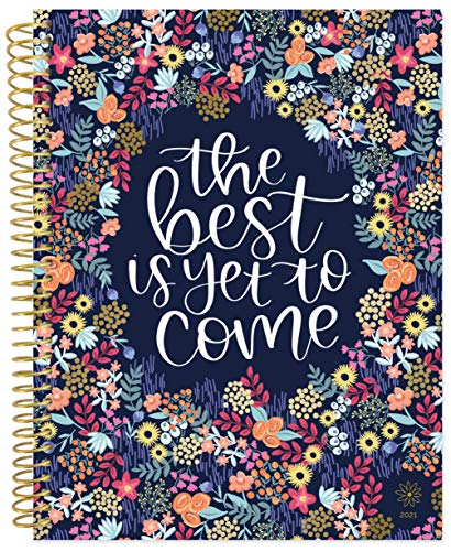 "bloom daily planners 2021 (8.5"" x 11"") Calendar Year Day Planner (January 2021 - December 2021) - Weekly/Monthly Dated Agenda Organizer with Tabs - Best is Yet to Come"