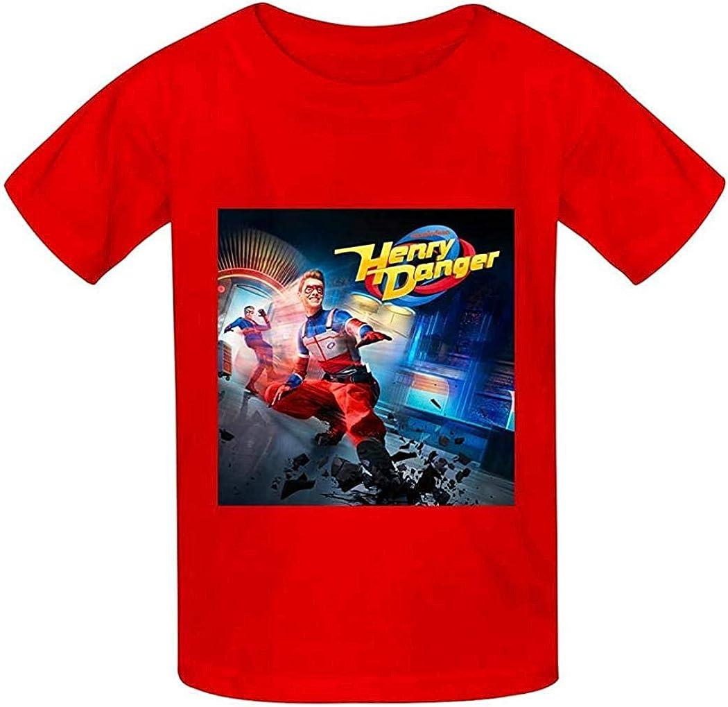 YYdg Ni/ños Ni/ños Ni/ñas Camiseta He-nRY da-NG-eR Camiseta de algod/ón con Cuello Redondo Camiseta Estampada Blusa de Manga Corta para ni/ños Ni/ñas Camisetas c/ómodas