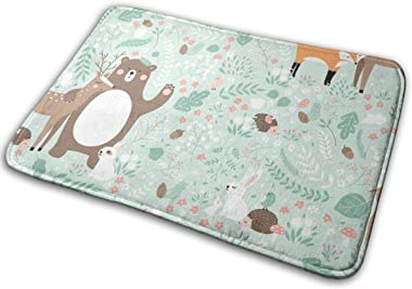 """Forest Animals Indoor Doormat Front Back Door Mat,23.6""""x15.8"""" Mat Non Slip Large Door Rug"""
