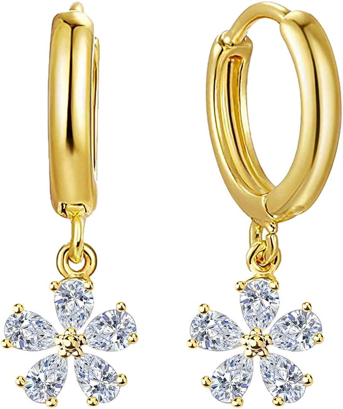 Tulsa Mall AnnBabic Tiny Dangle Huggie Earrings for Women Moon safety Star Cross -