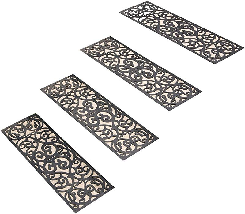 Skid Resistant Butterfly Stair Traction Treads Set Of 4 Black