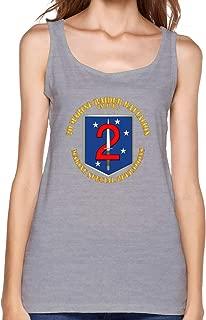 USMC 2D Marine Raider Battalion Active Basic Women's Sleeveless Tank Top