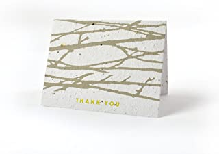 Bloomin Thanks A Bunch Seed Paper Greeting Cards - Hawthorne {8 Pack}