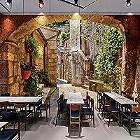 3D壁紙壁画ヨーロッパの町ストリートビュー写真壁紙キッチンリビングルームレストラン家の装飾絵画 450cmx300cm