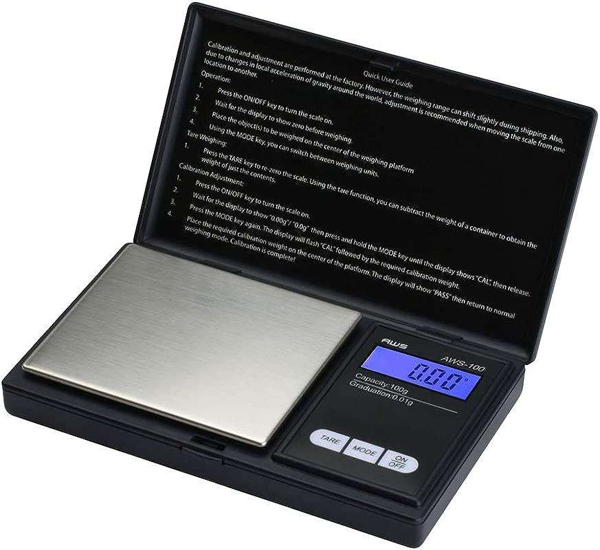 American Weigh Scale AWS 100 Digital Pocket Scale 100g X 0 01g Resolution