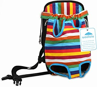 Woolala Pet Carrier Backpack Legs Out Front Dog Carrier Hands-Free Adjustable Puppy Cat Tote Holder Travel Bag Pet Portable Chest Shoulder Bags