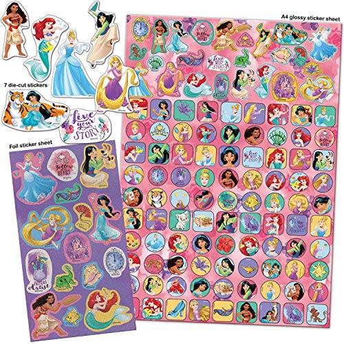 Paper Projects 9124370 Disney Princess Mega Aufkleber-Set, Pink, 29,7 cm x 21 cm