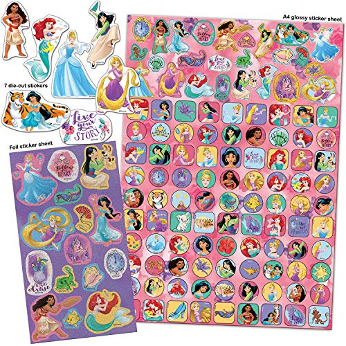Paper Projects 9124370 Disney Princess Mega Sticker Pack, Rosa/Viola