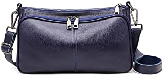 Runhuayou New Fashion Unproblematic Multi-Function Tumid Capacity Shoulder Bag Shoulder Slung Leather Handbag Great for Casual or Many Other Occasions Such (Color : Blue)
