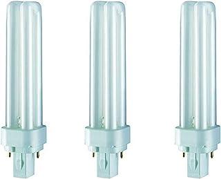 Osram Dulux D Home Decorative Durable Fluorescent Lamp (G24d-2 18W 840 4000K 1200lm) 2 PIN Pack of 3, luminous flux - COOL...