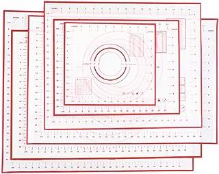 LLAAIT Tapis de Cuisson en Silicone Non_Stick Tapis de Cuisson réutilisable avec Rouleau à pâtisserie 80x60 / 70x50 / 60x6...