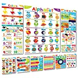 Sproutbrite Educational Posters and Classroom Decorations for Preschool - 11 Early Learning Charts for Toddlers, Pre-K, Kindergarten, Daycares and Home School Teachers