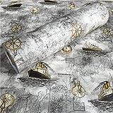 FANPING Mapa náutico Vela Contacto Papel Pintado de Vinilo Auto-Adhesivo de Papel de Pared for Niños habitación Dormitorio de los Muchachos Acento decoración de la Pared (60cm x 5m, Gris)