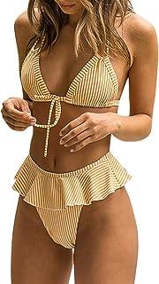 「シャオユウイ」ビキニ, 女性のセクシーなフリルビキニビーチウェアセット