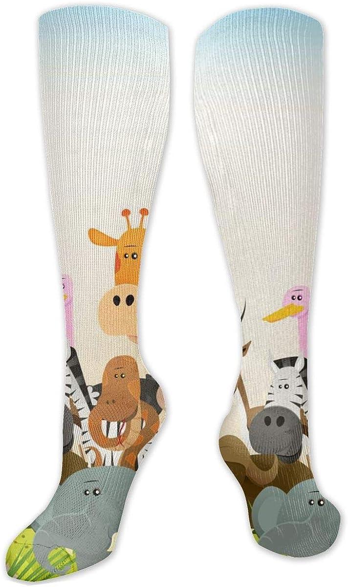 Wildlife Animals Knee High Socks Leg Warmer Dresses Long Boot Stockings For Womens Cosplay Daily Wear