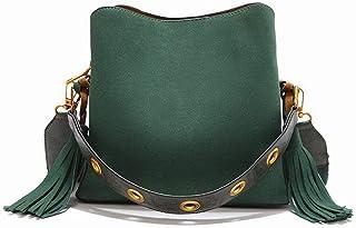 Shoulder Bag Women's Shoulder Bags Travel Tassels Pu Crossbody Bags Handbag Clutch (Color : Green, Size : One Size)
