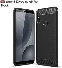 RKINC Case for Xiaomi Redmi Note 5,TPU Cover Ultra Thin, Lightweight Carbon Fiber design Flexible Bumper Rubber Protective Case forXiaomi Redmi Note 5, Black