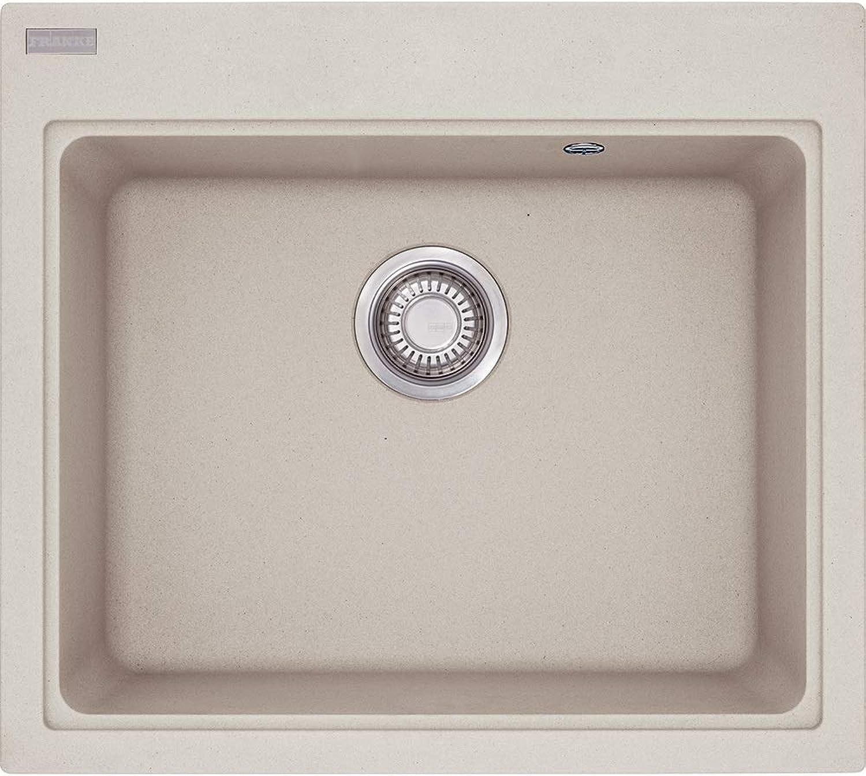 MRG 610-58, 585x520mm, Siebkorb als Druckknopfventil, mit Grüncktem Ueberlauf, ohne Tropfteil, Sahara