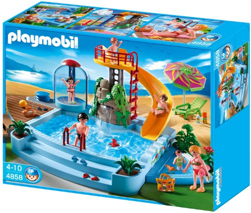 Big Sale Best Cheap Deals Playmobil 4858 Open Air Pool with Slide