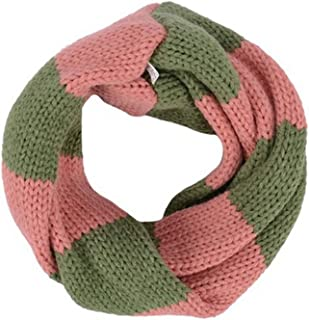Hot Fashion Weave Knitting Double Color Unisex Loop Wraps Scarf