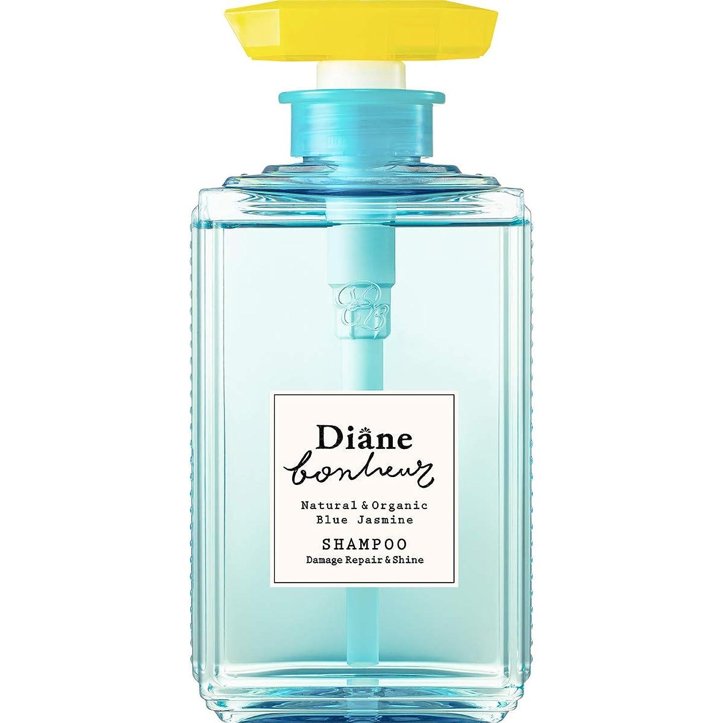 三角ボア機構ダイアン ボヌール シャンプー ブルージャスミンの香り ダメージリペア&シャイン 500ml