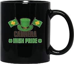 Irish Last Name Cabrera Celtic Cross Heritage Pride Funny Gifts Idea Black Mug