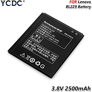 YCDC High Performance BL229 BL 229 Battery 3.8V 2500mAh for Lenovo A8 A806 A808T,2500mAh BL 229 BL229 Battery for Lenovo A8 A808T A808T-i A806 Mobile Phone