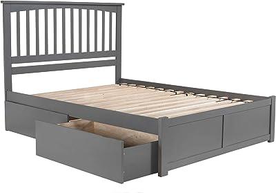 Atlantic Furniture Mission Bed, Queen, Grey