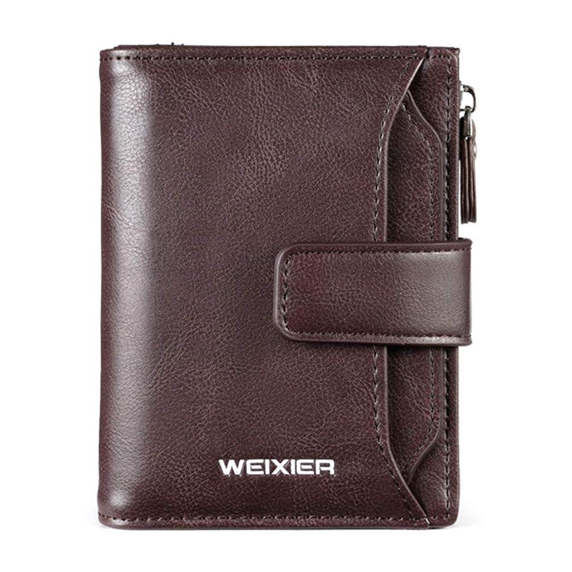 誰がバクテリアチョークWEIXIER-bagメンズ革財布ハンドメイドスリムメンズ財布メンズ財布短い多機能財布メンズ本革二つ折り財布革財布