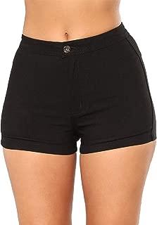 Govc Women's High Waisted Jean Shorts Casual Summer Juniors Solid Color Cotton Denim Short Jeans