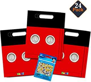 Disney Mickey Mouse Clubhouse Treat Bags -- 24 Mickey Mouse Party Favors Bags (24 Ct, Party Supplies)