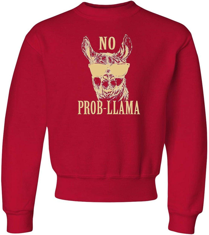 Go All Out Youth No Prob-Llama Crewneck Llama Funny favorite Sweat Lovers Phoenix Mall