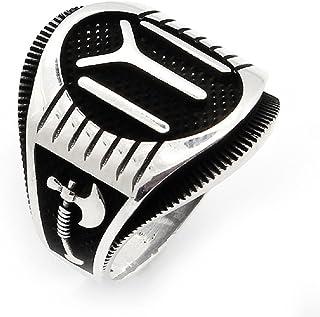 argunjewellery Ertugrul Dirilis Kayi IYI Ax Sword 2 Nice Motif 925K Sterling Silver Men's Ring