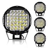 4PACK Off Road Pod Lights 9' Waterproof Round Mount Bumper 384W 48000Lumens Spot Work Light Bars 4WD Driving Lamps 12V