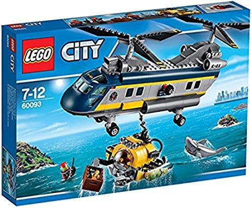 LEGO City - 60093 - Jeu De Construction - L'hélicoptère De Haute-mer