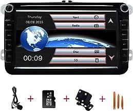4G SWC DVR OBD2 TPMS DAB Android 10 Auto GPS Navigation Bluetooth 2 Din Fahrzeug Stereo mit 8 Zoll Touchscreen f/ür Volkswagen Skoda Sitz Unterst/ützung Spiegel Link WiFi